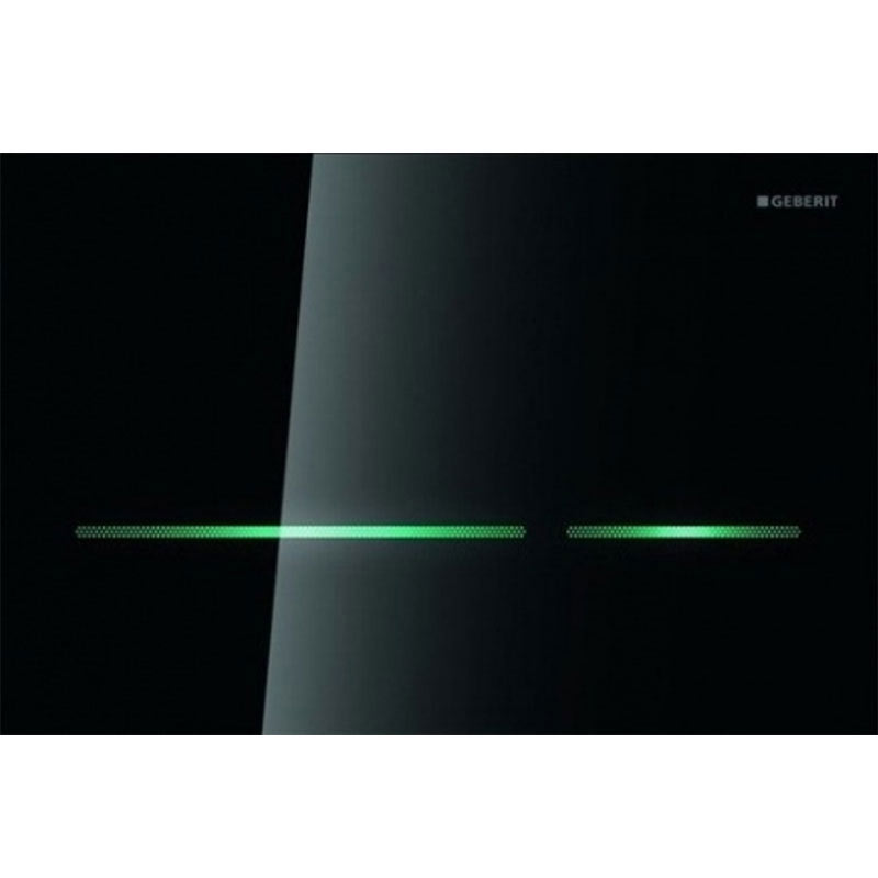 Geberit - Touchless Dual Flush for UP320 Cistern - Sigma80 - Smoked Glass Reflective