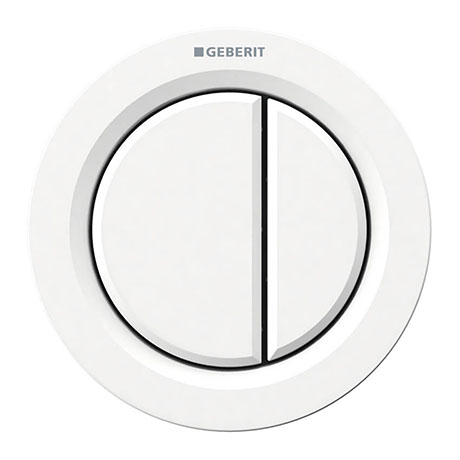 Geberit Type 01 Pneumatic Dual Flush Button for Concealed Cisterns - White Alpine - 116.050.11.1