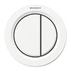Geberit Type 01 Pneumatic Dual Flush Button for Concealed Cisterns - White Alpine - 116.050.11.1 profile small image view 1
