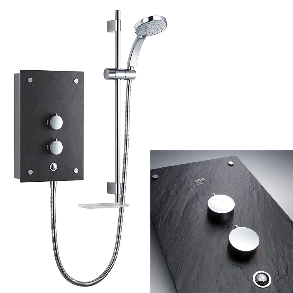Mira Galena 9.8kW Slate Effect Thermostatic Electric Shower - 1.1634.117