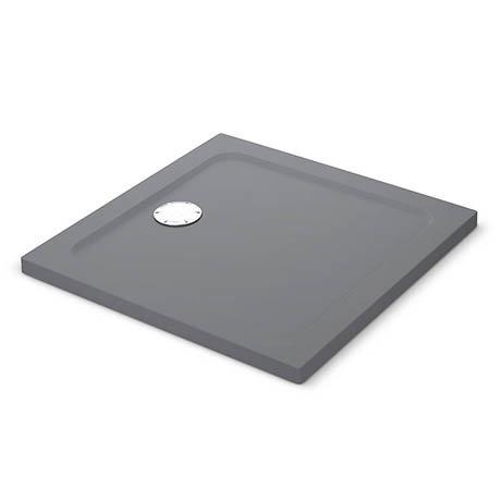 Mira Flight Safe Anti-Slip Square Shower Tray - Grey Anthracite