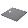 Mira Flight Safe Anti-Slip Square Shower Tray - Grey Anthracite profile small image view 1
