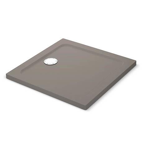 Mira Flight Safe Anti-Slip Square Shower Tray - Taupe