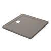 Mira Flight Safe Anti-Slip Square Shower Tray - Taupe profile small image view 1