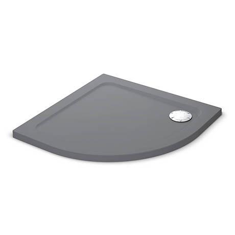 Mira Flight Safe Anti-Slip Quadrant Shower Tray 900 x 900mm - Grey Anthracite