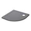 Mira Flight Safe 900 x 900mm Anti-Slip Quadrant Shower Tray - Grey Anthracite profile small image view 1