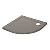 Mira Flight Safe 900 x 900mm Anti-Slip Quadrant Shower Tray - Taupe profile small image view 1