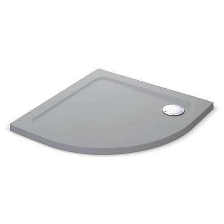 Mira Flight Safe Anti-Slip Quadrant Shower Tray 900 x 900mm - Titanium Grey