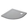 Mira Flight Safe 900 x 900mm Anti-Slip Quadrant Shower Tray - Titanium Grey profile small image view 1