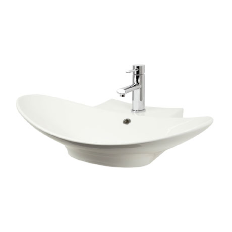 Miller - 680mm Countertop Ceramic Basin - 117W1