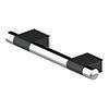AKW Onyx 300mm Black and Chrome Straight Grab Rail profile small image view 1