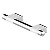AKW Onyx 300mm White and Chrome Straight Grab Rail profile small image view 1