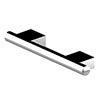 AKW Onyx 300mm Chrome Straight Grab Rail profile small image view 1