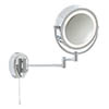 Searchlight IP44 Illuminated Chrome Bathroom Mirror with Adjustable Arm - 11824 profile small image view 1