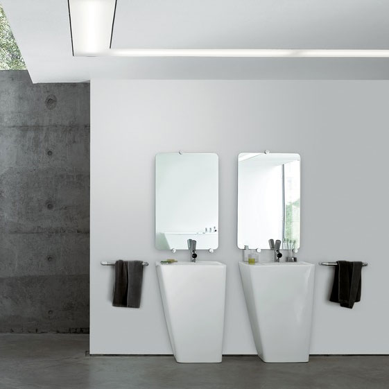 Laufen - Ilbagno Alessi dOt 1 Tap Hole 590mm Basin with Integrated Pedestal - 11902 Profile Large Image