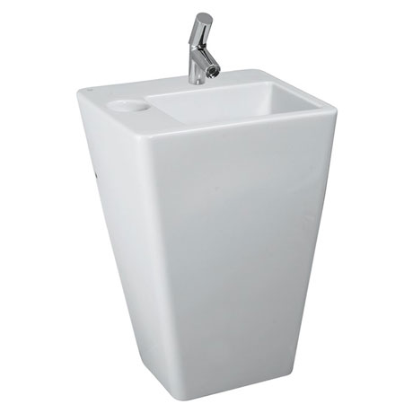 Laufen - Ilbagno Alessi dOt 1 Tap Hole 590mm Basin with Integrated Pedestal - 11902