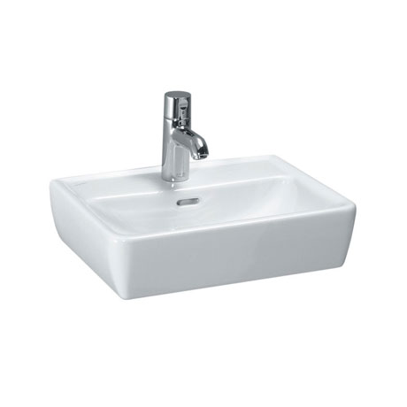 Laufen - Pro 1 Tap Hole 450mm Small Basin with Ground Base - 11952