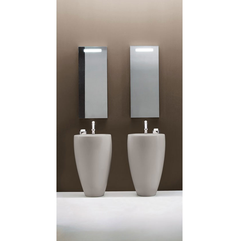 Laufen - Ilbagno Alessi One 1 Tap Hole 530mm Freestanding Basin with Integrated Pedestal - 11972 profile large image view 2