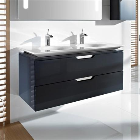 Roca - Kalahari-N 2 Drawer Vanity Unit with W1200mm Double Basin - 3 x Colour Options