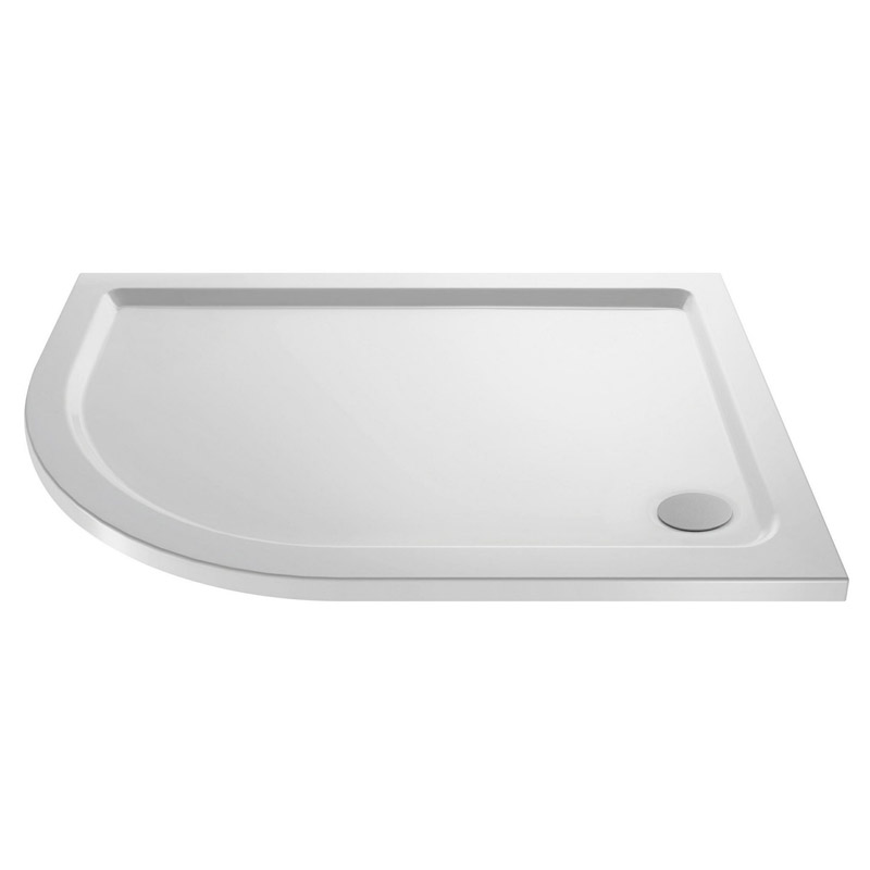 Pacific Offset Quadrant Shower Enclosure Inc. Tray + Waste (Left Hand)  Profile Large Image