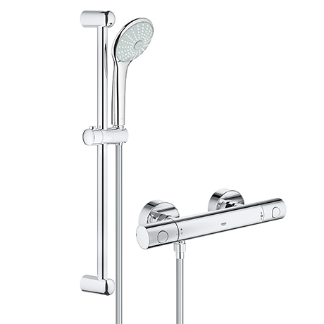 Grohe G800 Thermostatic Low Pressure Euphoria Shower Set
