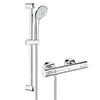 Grohe G800 Thermostatic Low Pressure Euphoria Shower Set profile small image view 1