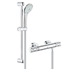 Grohe G1000 Performance Low Pressure Euphoria Shower Set profile small image view 1
