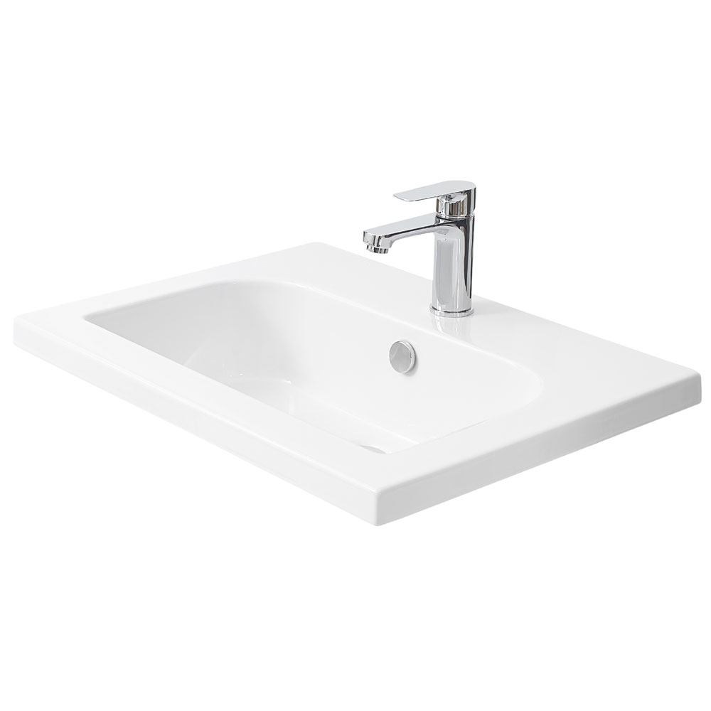 Miller - 610mm D-Shaped Bowl Ceramic Basin - 120W1 profile large image view 2