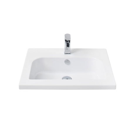 Miller - 610mm D-Shaped Bowl Ceramic Basin - 120W1