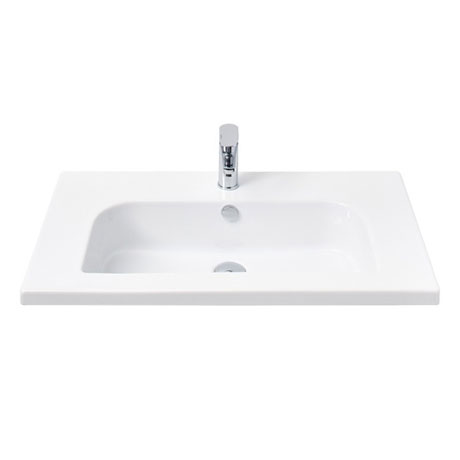 Miller - 810mm D-Shaped Bowl Ceramic Basin - 121W1