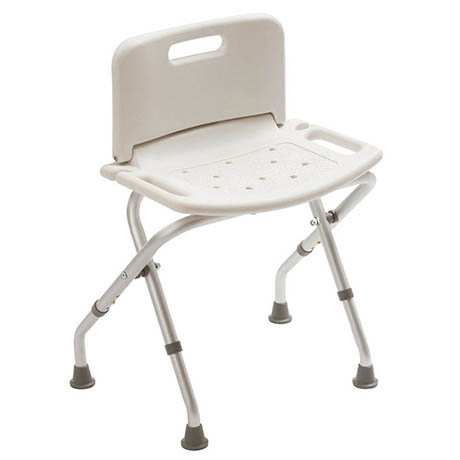 Drive DeVilbiss Folding Bath Bench with Back - 12487KDR