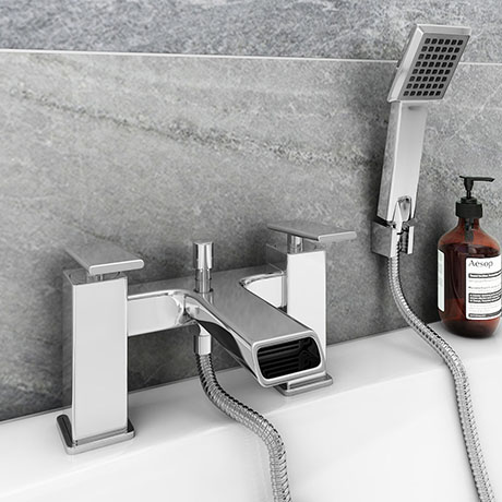 Flare Modern Bath Shower Mixer Tap + Shower Kit