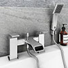 Flare Modern Bath Shower Mixer Tap + Shower Kit profile small image view 1