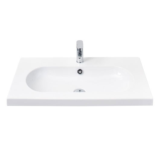 Miller - 800mm Oval Bowl Ceramic Basin - 125W1 Large Image
