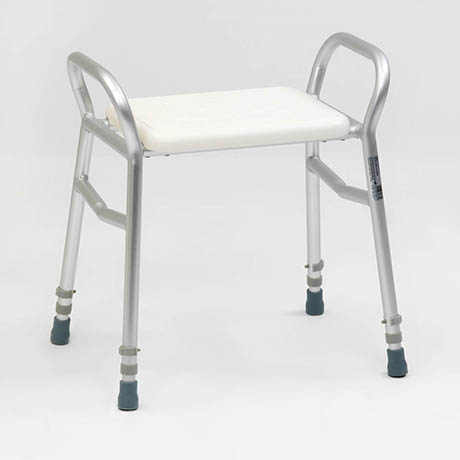 Drive DeVilbiss Bosworth Aluminium Shower Bench with Adjustable Height - 127ALU-30