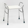 Drive DeVilbiss Bosworth Aluminium Shower Bench with Adjustable Height - 127ALU-30 profile small image view 1