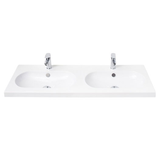 Miller - 1200mm Oval Bowl Double Ceramic Basin - 127W1 Large Image