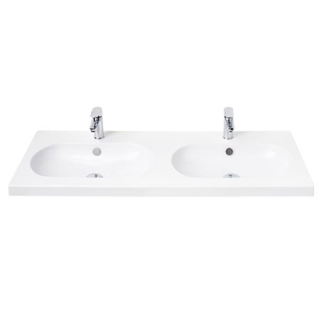 Miller - 1200mm Oval Bowl Double Ceramic Basin - 127W1