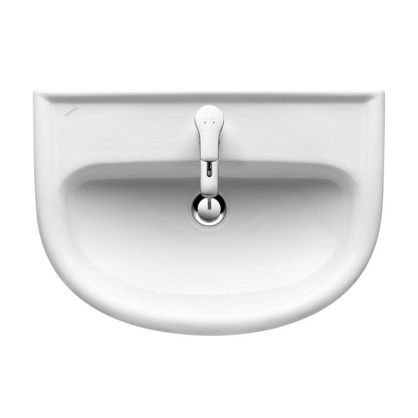 Laufen - Pro 1 Tap Hole 560mm Semi-Recessed Basin - 12951 Large Image
