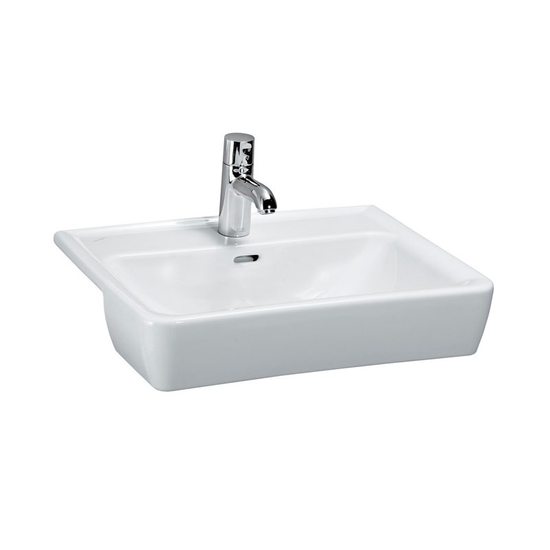 Laufen - Pro 1 Tap Hole 560mm Semi-Recessed Basin - 12961 Large Image