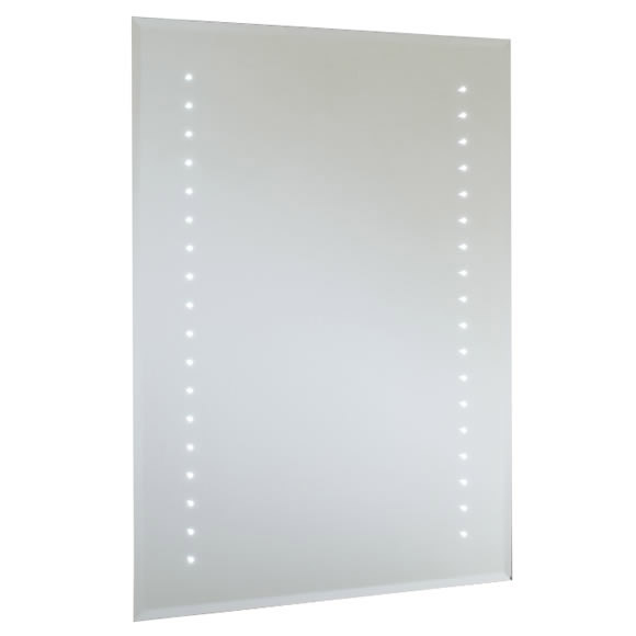 RAK - Ruebens LED Bevel Edged Mirror with Shaving Socket & Demister Pad - 700 x 500mm - 12SL18608 profile large image view 1