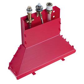 hansgrohe Secuflex Basic Set for 3-Hole Single Lever Deck Mounted Bath Mixers - 13437180