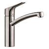 hansgrohe MySport M Single Lever Kitchen Mixer - Stainless Steel - 13861800 profile small image view 1