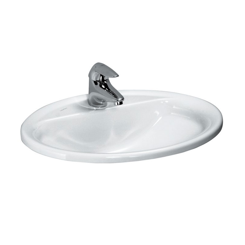 Laufen - Pro 1 Tap Hole 560mm Inset Basin - 13951 profile large image view 1