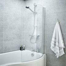 1400 Curved Shower Bath Screen Medium Image