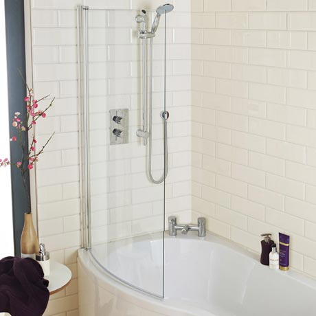 1400 curved shower bath screen at victorian plumbing uk