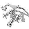 Tre Mercati Charleston Art Deco Bath Shower Mixer Tap Complete with Kit - 1405 profile small image view 1
