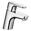 hansgrohe Ecos M Single Lever Basin Mixer with Pop-up Waste - 14080000 profile small image view 1