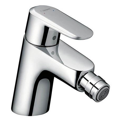 Hansgrohe Ecos Single Lever Bidet Mixer with Pop-up Waste - 14082000