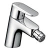 hansgrohe Ecos Single Lever Bidet Mixer with Pop-up Waste - 14082000 profile small image view 1